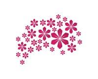 Stylized lotus flower icon vector background. Stylized lotus and flower icon vector background vector illustration