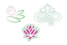 Stylized lotus logo Royalty Free Stock Images