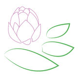 Stylized lotus logo Royalty Free Stock Photo