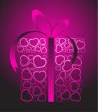 Stylized love present box Stock Image