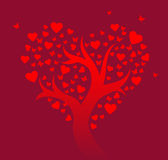 Stylized love tree Stock Photo