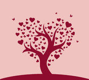 Stylized love tree Stock Photos