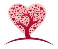 Stylized love tree. Vector illustration of Stylized love tree Royalty Free Stock Photos