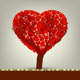 Stylized love tree made of hearts. EPS 8 Stock Images
