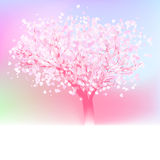 Stylized love tree made of hearts. EPS 8 Royalty Free Stock Photos