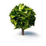 Stylized low poly tree Royalty Free Stock Images