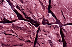 Stylized magenta stone wall texture Stock Photo