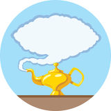 Stylized Magic lamp. Icon of a magic lamp royalty free illustration
