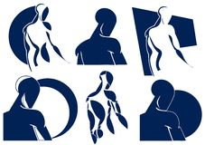 Stylized man. Illustration representing a stylized muscular man in different versions Stock Images