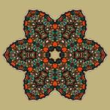 Stylized mandla flower. Art vintage decorative Stock Photos