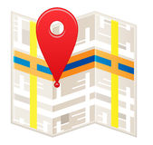 Stylized map icon Stock Photography
