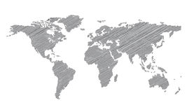 Stylized map of the world Stock Photography