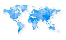 Stylized Map of World Royalty Free Stock Image