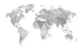 Stylized Map of World Stock Photos