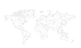 Stylized Map of World Stock Photography