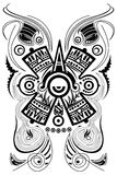 Stylized Mayan symbol - tattoo - vector. Stylized Mayan symbol - tattoo, illustration  isolated on white, vector file available Stock Image