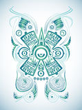 Stylized Mayan symbol -tattoo, vector illustration