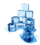 Stylized melting ice cubes Stock Images