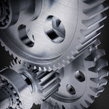 Stylized metal gears Royalty Free Stock Photography