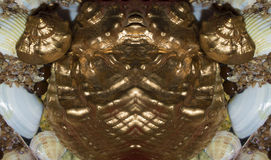 Stylized metal souvenir gold fish fugues Stock Photos