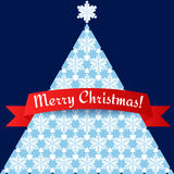 Stylized minimalistic Christmas tree card Royalty Free Stock Image