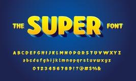 3d bold font vector illustration