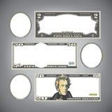 Stylized money Royalty Free Stock Images