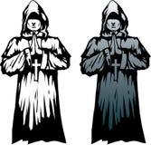 Stylized monk vector illustration