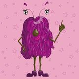 Stylized monster, beautiful and cute. Stylized monster for design and web Royalty Free Stock Photography