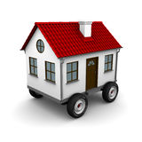 Stylized motorhome on a white background. 3d rendering Royalty Free Stock Photo