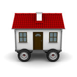 Stylized motorhome on a white background. 3d rendering Royalty Free Stock Photography