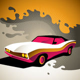 Stylized muscle car. Royalty Free Stock Image