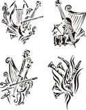 Stylized music emblems - symphony Stock Photo