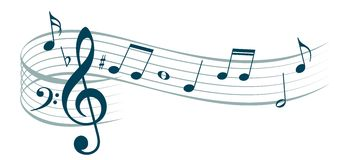 Stylized music notes. Royalty Free Stock Photos