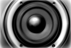 The stylized (musical speaker) image Stock Photo
