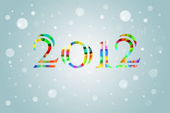 Stylized New Year 2012 Card Background. Colorful and stylized new year 2012 card design vector illustration