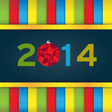 Stylized New Year. With Bauble Stock Photography