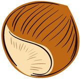 Stylized nut isolated illustration Royalty Free Stock Photos
