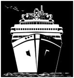 Stylized ocean liner Stock Photo