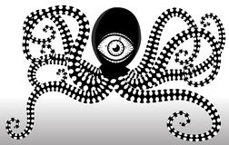 Stylized octopus Vector Royalty Free Stock Images