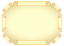 Stylized old document. Yellow scroll blank, unwraped view. Isolated on a white. Vector illustration Stock Photography