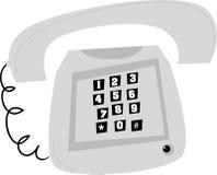 Stylized old telephone. Stylized grey, old telephone. Like the one I have on my desk Stock Photography