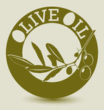 Olive label Stock Images