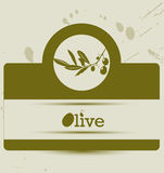 Stylized olive label Stock Photo