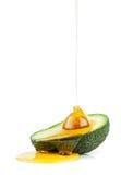 stylized olja för avokadodroppillustration Fotografering för Bildbyråer