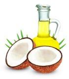 stylized olja för kokosnötdroppillustration Royaltyfri Fotografi