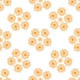 Stylized Orange Sun Rays Pattern on a White Background Stock Photography