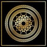 Stylized oriental golden pattern. Vector stylized oriental pattern, golden on the black background. Eps10 Royalty Free Stock Photo