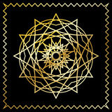 Stylized oriental golden pattern. Vector stylized oriental pattern, golden on the black background. Eps10 Royalty Free Stock Photography