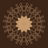 Stylized Oriental Lace Brown Color.Oriental Royalty Free Stock Images